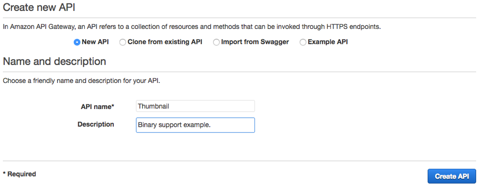 Binary Support for API Integrations with Amazon API Gateway